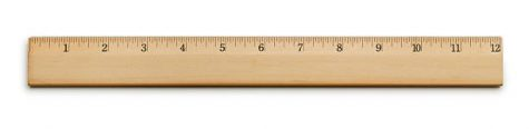"A 12"" ruler on white with soft shadow."
